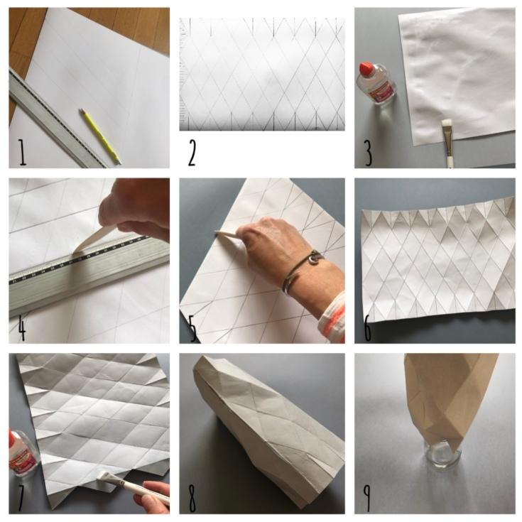 Vase «origamiesque» DIY - bricolage enfant - craft for kids - vase - origami - recyclage - papier - Pas à pas