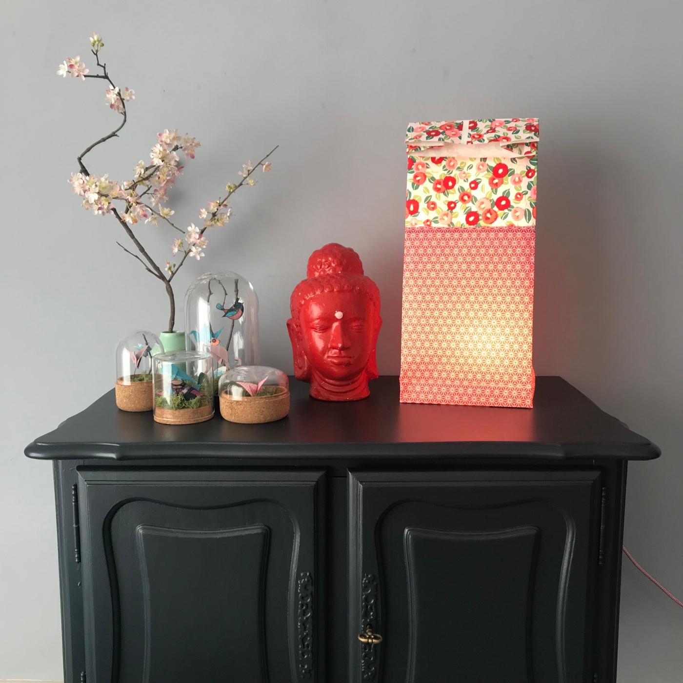 La lampe est dans le sac - origami - papier - lampe - bricolage - DIY - craft - kids - enfants - image à la une