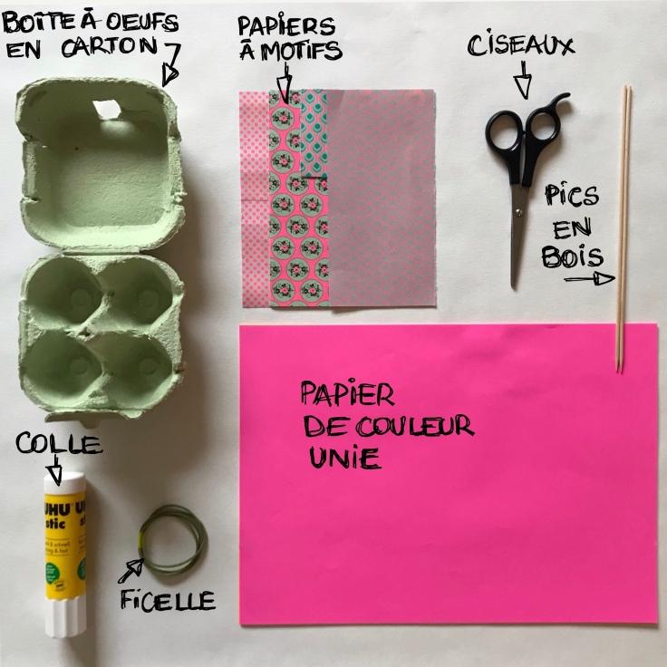 Pâques approche - DIY - bricolage enfant - craft for kids - décoration de Pâques - poule - boîte à œufs - papier - fiche matériel