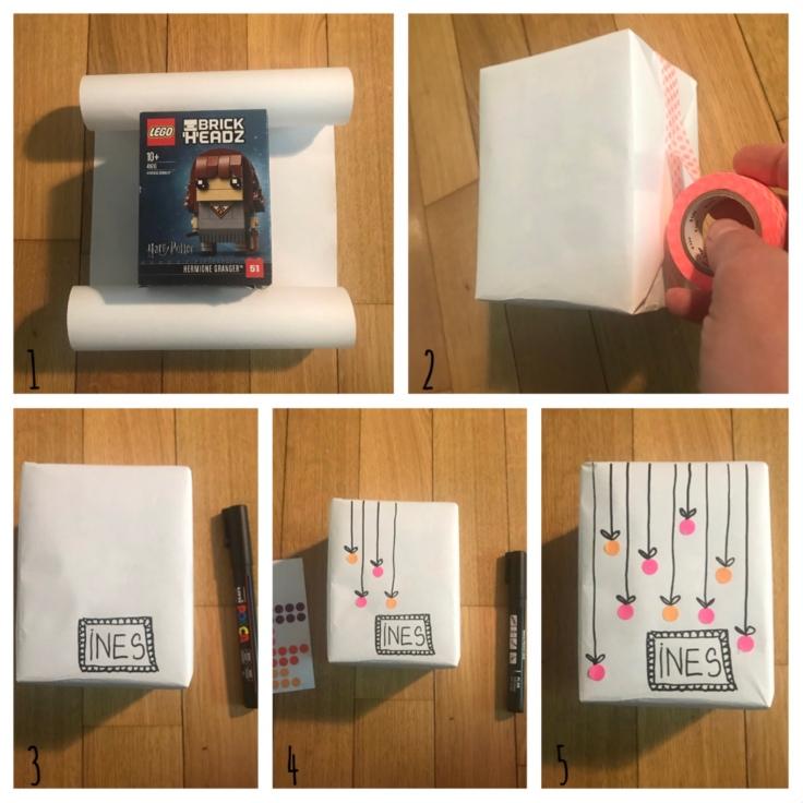 Emballé c'est pesé - DIY - bricolage enfant - craft for kids - emballage cadeaux rigolo - papier - anniversaire