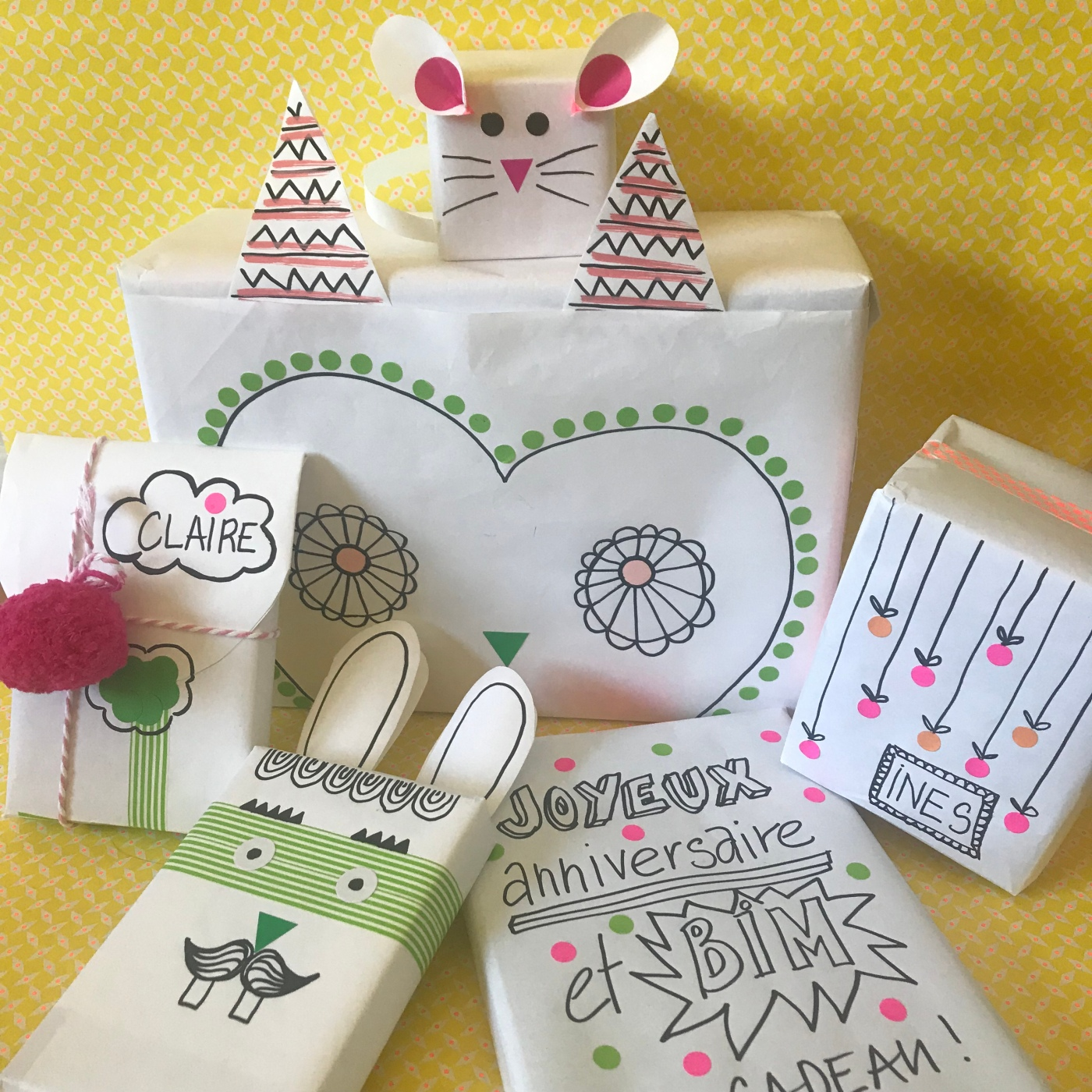 Emballé c'est pesé - DIY - bricolage enfant - craft for kids - emballage cadeaux rigolo - papier - anniversaire - image à la une