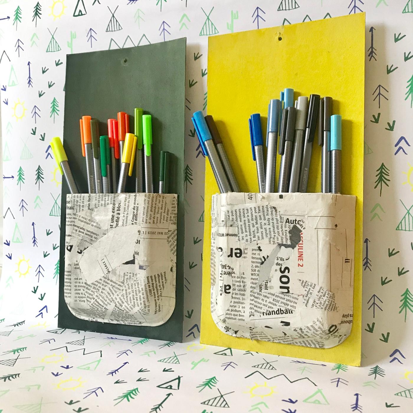 Recycler pour mieux ranger - bricolage enfant - DIY - craft for kids - rangement - recyclage - barquette en polystyrène - vernis colle - peinture - Image à la une