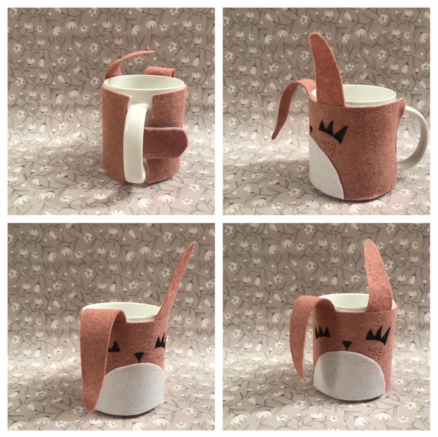 Réchauffe ton mug - DIY - bricolage enfants - craft for kids - protège mug - feutrine - lapin